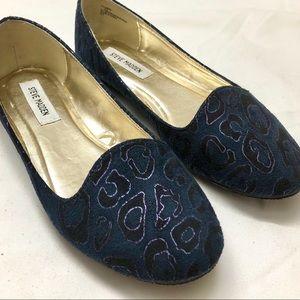 Steve Madden Blue Flats Size 8.5